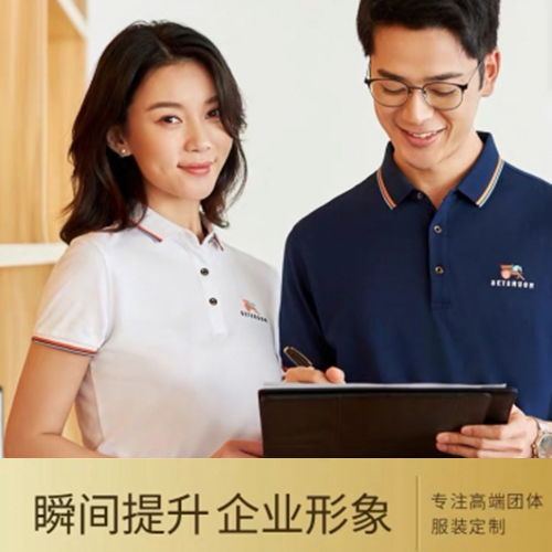 工作服定制t恤刺绣logo印字翻领短袖工衣diy企业文化广告polo衫